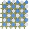 Interceramic Aquarelle Random Sized Ceramic Mosaic Tile in Star Blue