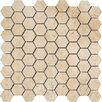 """Marazzi Timeless Collection 1.5"""" x 1.75"""" Porcelain Mosaic Tile in Marfil Cream"""
