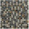 Marazzi Crystal Stone II Glass Mosaic Tile in Slate