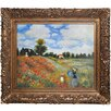 Tori Home Poppy Field in Argenteuil Monet Framed Original Painting
