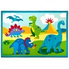 Wildkin Olive Kids Dinosaur Land Area Rug