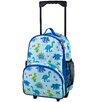 Wildkin Olive Kids Dinosaur Land Rolling Backpack