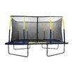 Upper Bounce Spacious 15' Rectangular Trampoline with Fiber Flex Enclosure