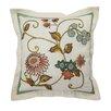 Waverly Graceful Garden Embroidered Cotton Throw Pillow