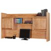 Martin Home Furnishings Contemporary Medium Oak Bookshelf Hutch