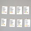 "Children Inspire Design Mini 8 Piece ""Don't Forget"" Inspirational Wall Card Set"