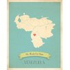 Children Inspire Design My Roots Venezuela Personalized Map Gallery Wrapped on Canvas Art
