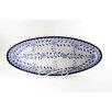"Le Souk Ceramique Azoura Design 21"" Oval Platter"