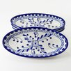 Le Souk Ceramique Azoura Design Oval Platter (Set of 4)