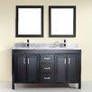 "Bauhaus Bath Coraline 60"" Double Bathroom Vanity Set with Mirror"