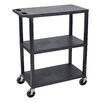 Luxor Fixed Height Presentation Cart with 3 Shelves
