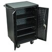Luxor 24-Compartment Laptop Storage Cart