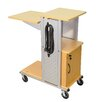 Luxor Mobile Presentation Station with Casters, Electric and Cabinet