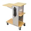 Luxor Mobile Presentation Station with Casters and Electric