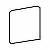 "American Olean Costa Rei 3"" x 3"" Bullnose Corner Tile Trim in Sabbia Dorato (Set of 4)"