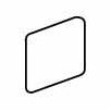 "American Olean Pozzalo 2"" x 2"" Surface Bullnose Outcorner Tile Trim in Sail White"