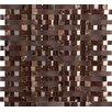 Emser Tile Lucente Vetro Random Sized Glass Mosaic Tile in Brown