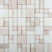 Emser Tile Lucente Random Sized Glass Mosaic Tile in Ivory