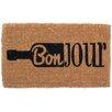 Coco Mats N More Bonjour Wine Doormat