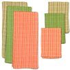 Design Imports 6 Piece Palm Paradise Heavyweight Dish Towel & Dish Cloth Set