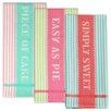 Design Imports 3 Piece Sweet Shoppe Jacquard Dishtowel Set