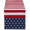 Design Imports 4th of July Flag Stripe Jacquard Table Runner