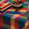 Design Imports Palette Check Indian Summer Tablecloth