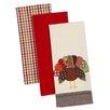 Design Imports 3 Piece Turkey Dishtowel Set