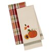 Design Imports 2 Piece Harvest Pumpkin Dishtowel Set