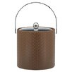 Kraftware San Remo Pinecone Design 3 Qt Ice Bucket with Metal Cover