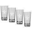 Kraftware Kasualware Designs Fleur de Lis 16 Oz. Pint Glass (Set of 4)