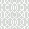 """WallPops! Grand Trellis Peel and Stick 18' x 20.5"""" Geometric Roll Wallpaper"""