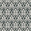 """Brewster Home Fashions Echo Design 33' x 20.5"""" Damask Embossed Wallpaper"""