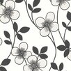 """Brewster Home Fashions Elements Freud Blossom Trail 33' x 20.5"""" Floral Embossed Wallpaper"""