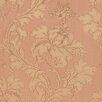 "Brewster Home Fashions Venezia Vitale 33' x 27"" Leafy Scroll Damask Embossed Wallpaper"