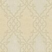 "Brewster Home Fashions Artistic Illusion Bernaud Persian Diamond 33' x 20.5"" Damask Embossed Wallpaper"