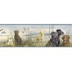 """Brewster Home Fashions Borders by Chesapeake Trusty Labs Portrait 15' x 8.25"""" Wildlife Embossed Border Wallpaper"""