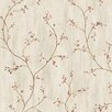 "Brewster Home Fashions Borders by Chesapeake Gemma Tin Star Trail 33' x 20.5"" Floral Embossed Wallpaper"