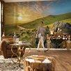 Brewster Home Fashions Komar Mountain Morning Wall Mural