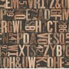 "Brewster Home Fashions Oxford Letterpress Typography 33' x 20.5"" Wallpaper"