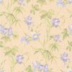 "Brewster Home Fashions Kitchen, Bed And Bath Resource IV 33' x 20.5"" Iris Floral Wallpaper"
