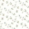 "Brewster Home Fashions Kitchen, Bed And Bath Resource IV 33' x 20.5"" Olivia Floral Trail Wallpaper"