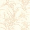 "Brewster Home Fashions For Your Bath II 33' x 20.5"" Vivianne Iris Floral Wallpaper"
