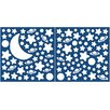 Brewster Home Fashions Euro Glow in the Dark Moon and Stars Wall Decal