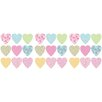 Brewster Home Fashions Euro Hearts Wall Decal