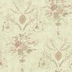 "Brewster Home Fashions Pompei Naples Floral Fresco Distressed 33' x 20.5"" Floral and Botanical Embossed Wallpaper"
