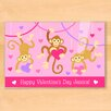 Olive Kids Valentine's Day Monkeys Personalized Placemat