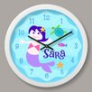"Olive Kids Mermaids Personalized 12"" Wall Clock"