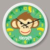"Olive Kids Monkeys Personalized 12"" Wall Clock"