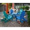 POLYWOOD® Classic Folding  5 Piece Adirondack Seating Group